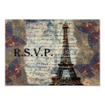 Vintage French rsvp cards standard 3.5 x 5