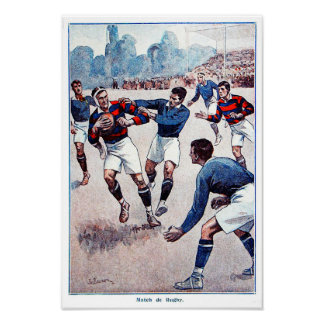 Vintage French Rugby - Archival Print