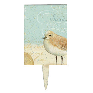 Vintage French Sand Piper Cake Topper