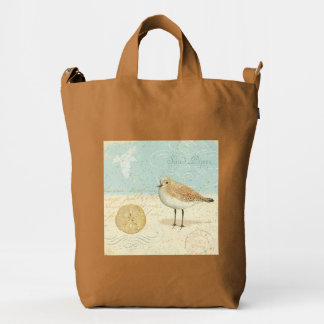 Vintage French Sand Piper Duck Bag