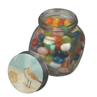 Vintage French Sand Piper Jelly Belly Candy Jars