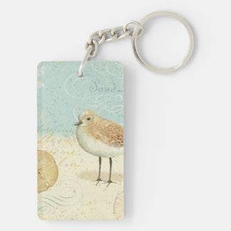 Vintage French Sand Piper Keychain