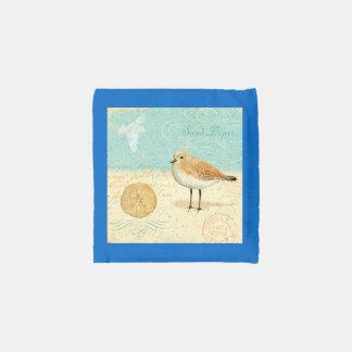 Vintage French Sand Piper Reusable Bag
