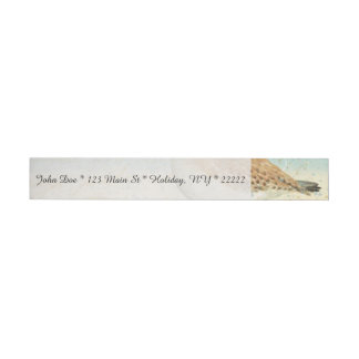 Vintage French Sand Piper Wrap Around Address Label