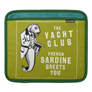 Vintage French Sardine Fish Yacht Club Ad Sleeve For iPads