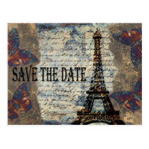 Vintage French Save the Date Postcard