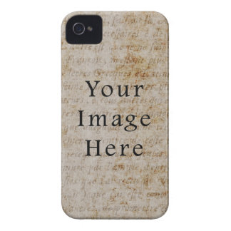 Vintage French Script Parchment Paper Background Case-Mate iPhone 4 Cases