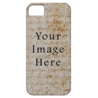 Vintage French Script Parchment Paper Background iPhone 5/5S Covers