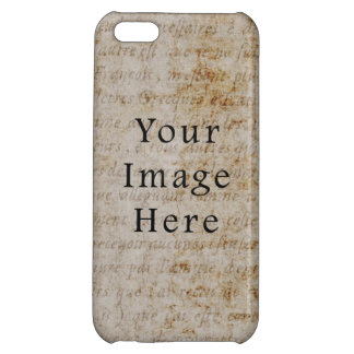 Vintage French Script Parchment Paper Background iPhone 5C Covers