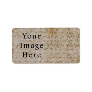 Vintage French Script Parchment Paper Background Label