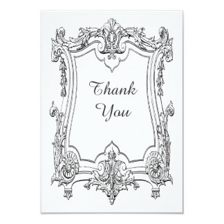 Vintage French Scroll Thank You Card