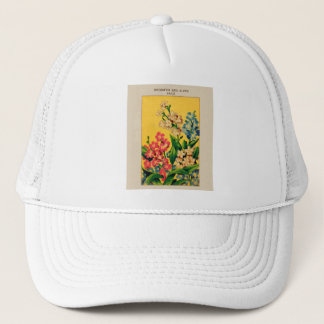 Vintage French Seed Art Forget Me Nots - myosotis Trucker Hat