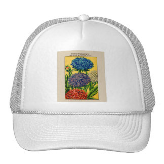 Vintage French Seed Package Queen Daisy Trucker Hat