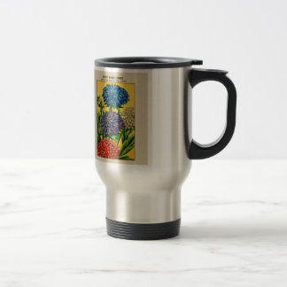 Vintage French Seed Package Queen Daisy Travel Mug