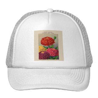 Vintage French Seed Package Zinnia Zinnas Trucker Hat