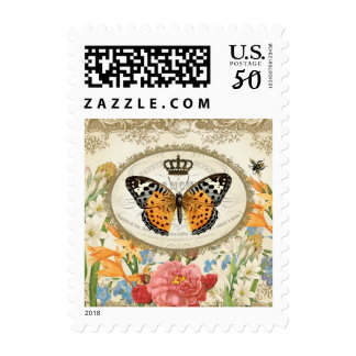 Vintage French Shabby Chic  Butterfly stamp