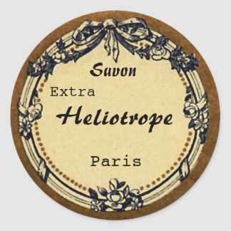 Vintage French Soap Label Classic Round Sticker