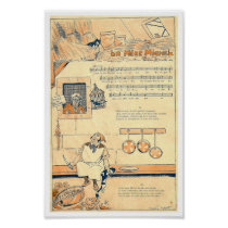 Vintage French song music score La Mere Michel