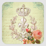 Vintage French Square Sticker