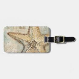 Vintage French Starfish Art Bag Tag