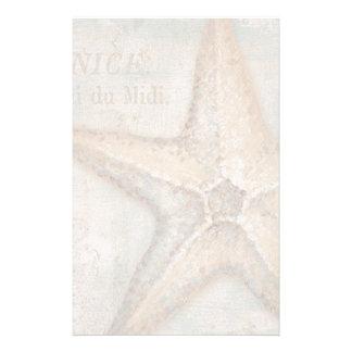 Vintage French Starfish Art Stationery