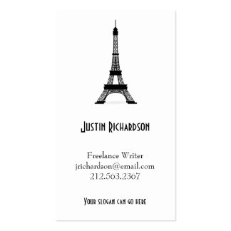 Vintage French Style Black Eiffel Tower Business Card