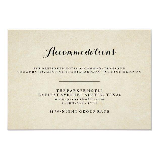 Wedding Accommodation Cards Mimoprints