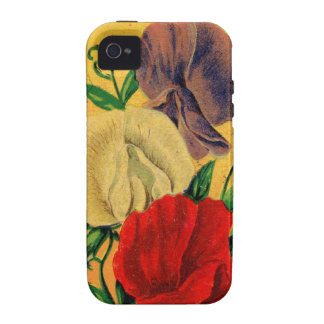 Vintage French Sweet Pea Flower Seed Package iPhone 4 Cover