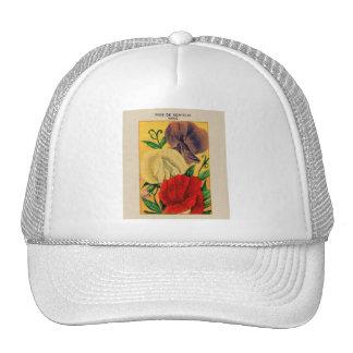 Vintage French Sweet Pea Flower Seed Package Trucker Hat