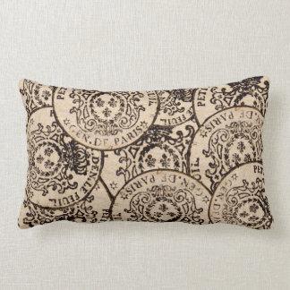 Vintage French Tax Stamp de Paris Pillow