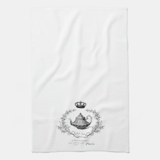 Vintage French Teapot Tea Towel at Zazzle