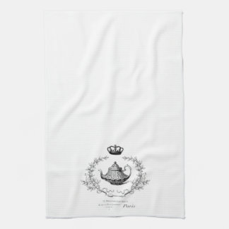Vintage French teapot tea towel