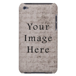 Vintage French Text Parchment Paper Background Barely There iPod Cover