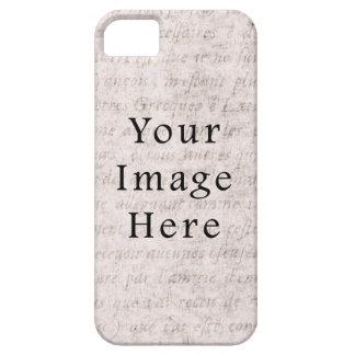 Vintage French Text Parchment Paper Background iPhone SE/5/5s Case