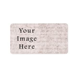 Vintage French Text Parchment Paper Background Label