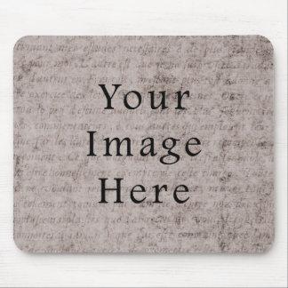 Vintage French Text Parchment Paper Background Mousepad