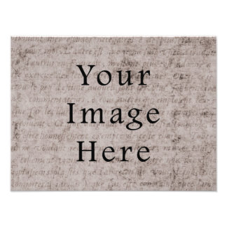 Vintage French Text Parchment Paper Background Photo Print