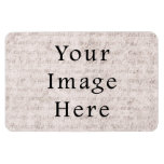 Vintage French Text Parchment Paper Background Rectangle Magnets