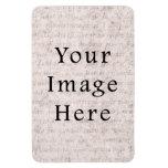 Vintage French Text Parchment Paper Background Vinyl Magnet