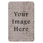 Vintage French Text Parchment Paper Background Flexible Magnets