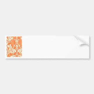 Vintage French Textile Arabesques Bumper Stickers