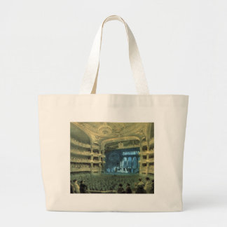 VINTAGE FRENCH  THATRE,  PELETIER THEATRE STAGE LARGE TOTE BAG