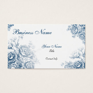 Vintage French Toile - Blue Business Card