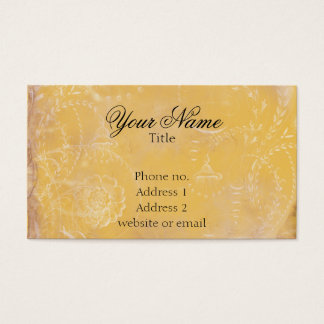 Vintage French Toile Custom Business Cards Gold