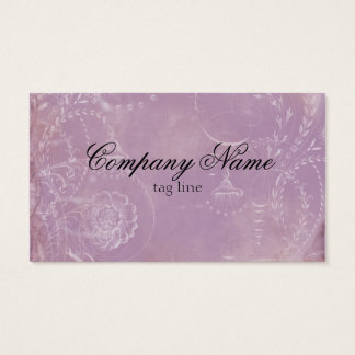 Vintage French Toile Custom Business Cards Purple