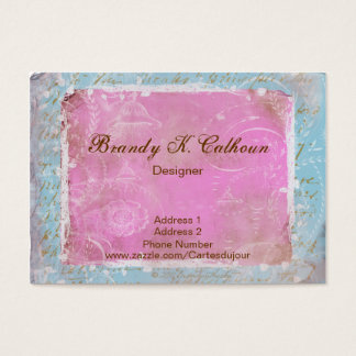 Vintage French Toile & Script No.1 Business Cards