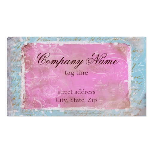 Vintage French Toile & Script No.1 Standard Business Card Templates