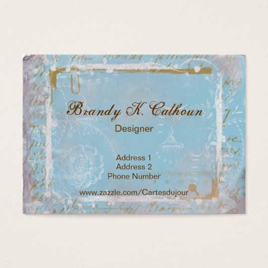 Vintage French Toile & Script No.2 Business Cards