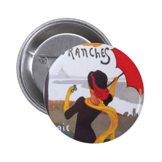 Vintage French Travel Ad 1910 Button