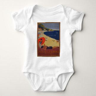 Vintage French Travel Advertisement Baby Bodysuit